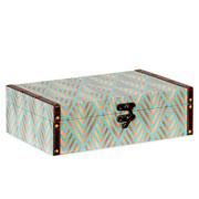 Caixa de madeira estampado 30x20 cm