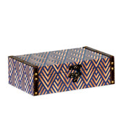 Caixa de madeira estrampado 25x15 cm