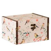 Caixa de MDF passárinhos 27x22x16 cm