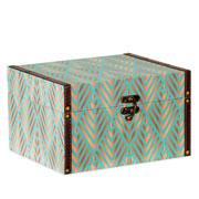 Caixa de madeira estampado 26,5x22 cm