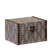 Caixa de madeira estampado 23x18 cm
