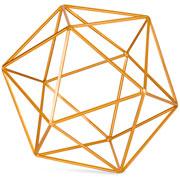 Forma Geometrica em metal dourada 27 cm