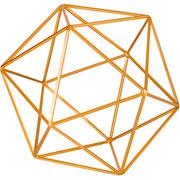 Forma geométrica em metal dourada 20 cm
