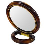 Espelho dupla face redondo pedestal 11 cm