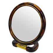 Espelho dupla face redondo pedestal 15 cm