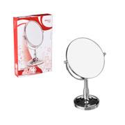 Espelho dupla face redondo com pedestral 14 cm