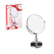 Espelho dupla face redondo com pedestral 16,5 cm