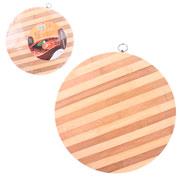 Tabua de madeira redonda 34 cm