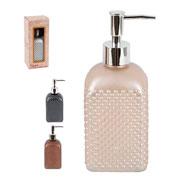 Porta sabonete líquido em vidro bolhas rose gold/prata/chumbo 500 ml