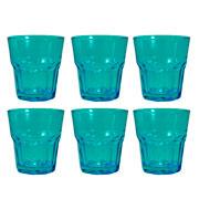 Jogo de copos salut azul 285 ml 06 peças