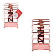 Porta Talheres em metal rosê 10x17 cm