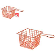 Cesto para fritura rose 10x08 cm