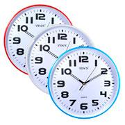 Relógio de parede redondo colors 29 cm