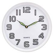 Relógio de parede redondo fluorescente 29 cm
