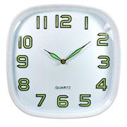 Relógio de parede quadrado fluorescente 29 cm