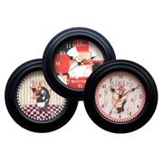 Relógio de parede cheff bistro colors 26 cm