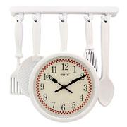 Relógio de parede Talheres colors 34x32 cm