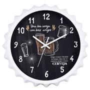 Relógio de parede redondo beer sortido 28 cm