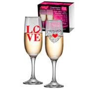 Conjunto taça Champagne Love 215 ml