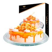 Prato de bolo de vidro san remo 30 cm
