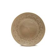 Prato de sobremesa corona relieve cinza 20,5 cm