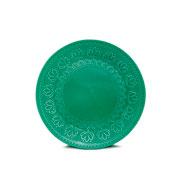 Prato de sobremesa corona relieve green 20,5 cm