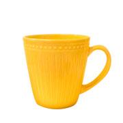 Caneca corona relieve amarela 300 ml