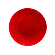 Prato de sobremesa corona relieve vermelho 20,5 cm