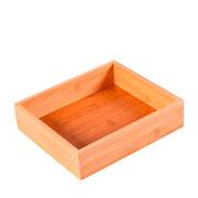 Organizador de gaveta em bambu 22x19 cm