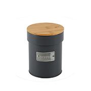 Porta mantimento de metal coffee chumbo