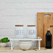 Porta mantimento de metal oak coffee branco 850 ml