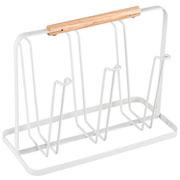 Escorredor de copos de aço branco Metalla