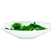 Saladeira oval melamina branca 41x26 cm