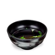 Tigela de melamina preta 14 cm