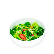 Saladeira empilhavel melamina branca 12 cm