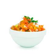 Saladeira empilhavel melamina branca 11 cm