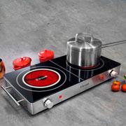 Cook top elétrico 02 bocas 3000w 220 volts