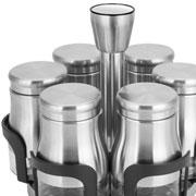Porta condimento com suporte giratório 06 peças - UniHome