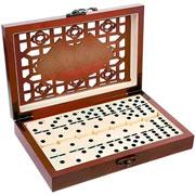 Jogo de Dominó com caixa de madeira - UniHome