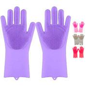 Par de luvas de silicone com esponja colors