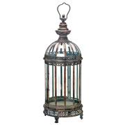Lanterna decorativa em metal 65 cm