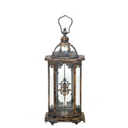 Lanterna decorativa em metal 56 cm