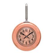 Relógio de parede frigideira bronze 40 cm