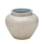 Vaso em cerâmica branco 17 cm