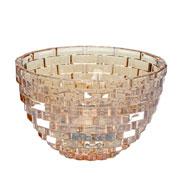 Centro de mesa de vidro ambar 22x14 cm