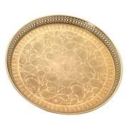 Bandeja em metal dourada 44 cm