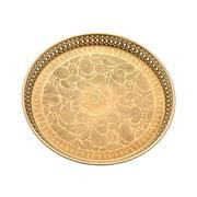 Bandeja em metal dourada 37 cm