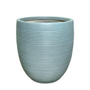 Cachepot cinza 43x51 cm