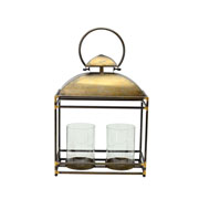 Lanterna decorativa em metal 37x20x58 cm