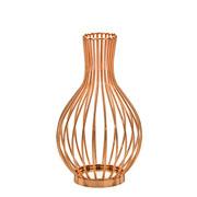 Vaso de metal decorativo dourado 29,5 cm